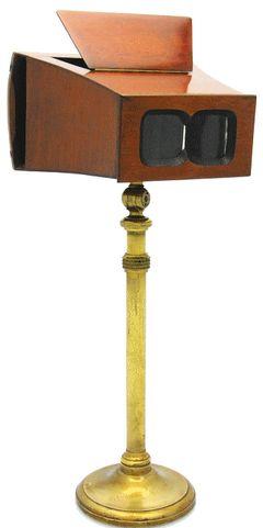 Inconnue - Stéréoscope sur pied miniature