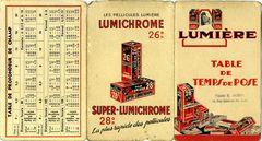 Lumière - Table de temps de pose Lumichrome 26° miniature